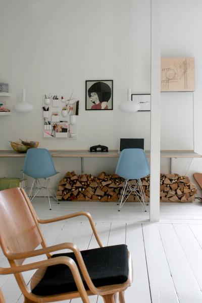 kontor i stuen