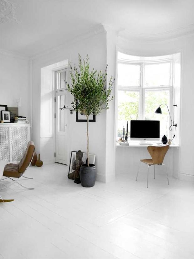 simpelt kontor i stuen